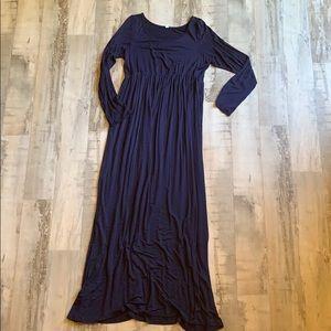 Navy Maxi-Dress